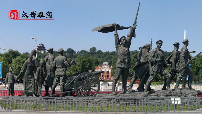 户外大型铜雕_军人主题雕塑_人物雕像定制_军人文化雕像_人物铜雕定制