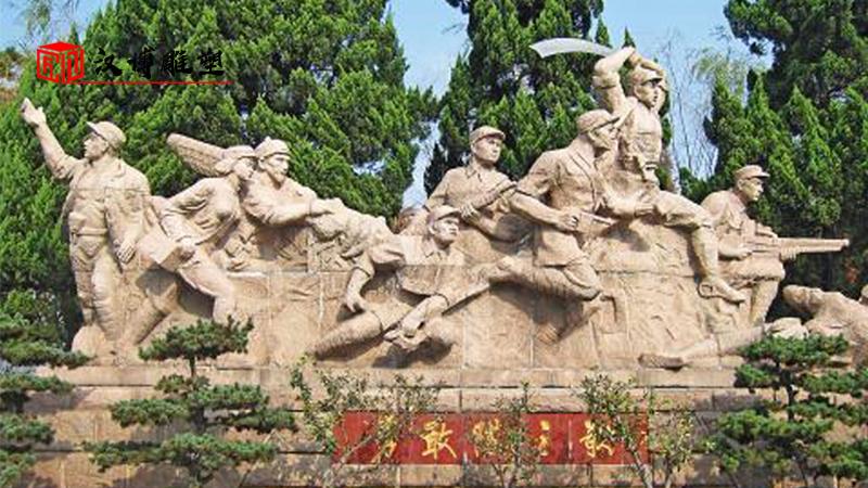 大型军人雕塑_人物石雕制作_红色文化雕像_军人主题铜雕_人物雕塑定制