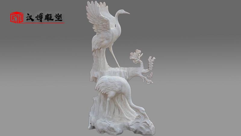 汉白玉动物雕塑_户外园林雕像_人物石雕定制_景观大型雕塑_汉白玉雕像