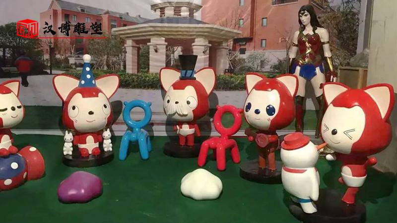 步行街雕塑_商业街雕像定制_彩绘主题雕塑_雕像定制加工_大型景观雕像