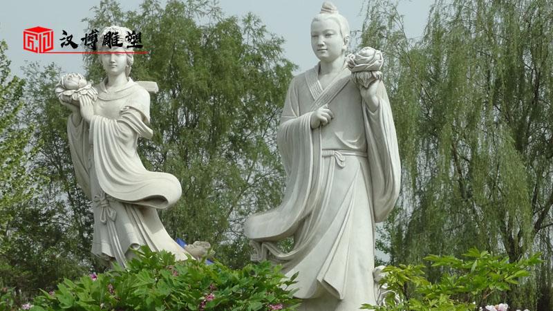 人物石雕像_大型雕塑定制_广场景观雕像_人物雕像定制_石雕制作厂家