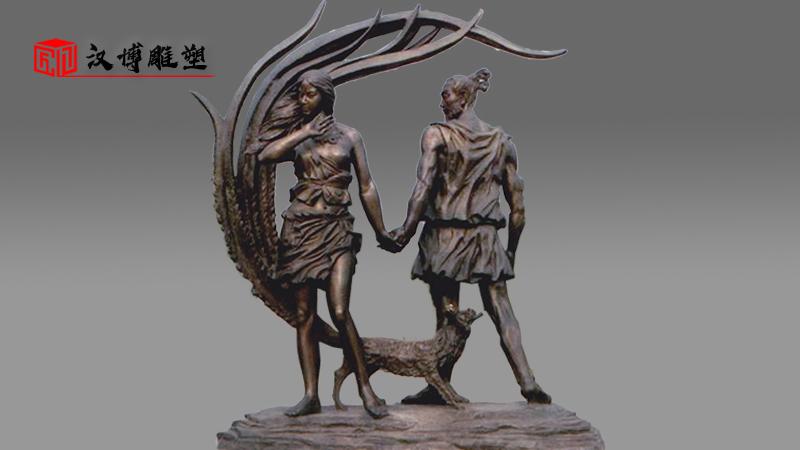 人物雕塑定制_锻铜人物雕像_园林景观雕塑_户外大型雕像_锻铜雕像