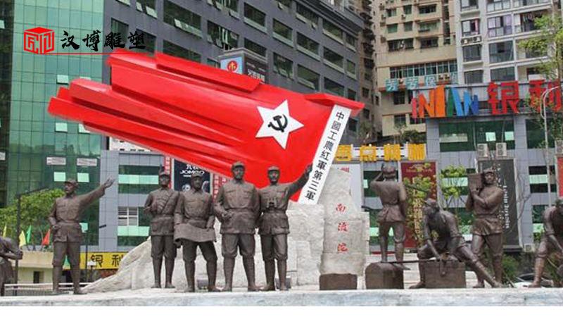 大型雕像加工_军人铜雕制作_人物雕塑定制_户外景观雕塑_大型雕像定制