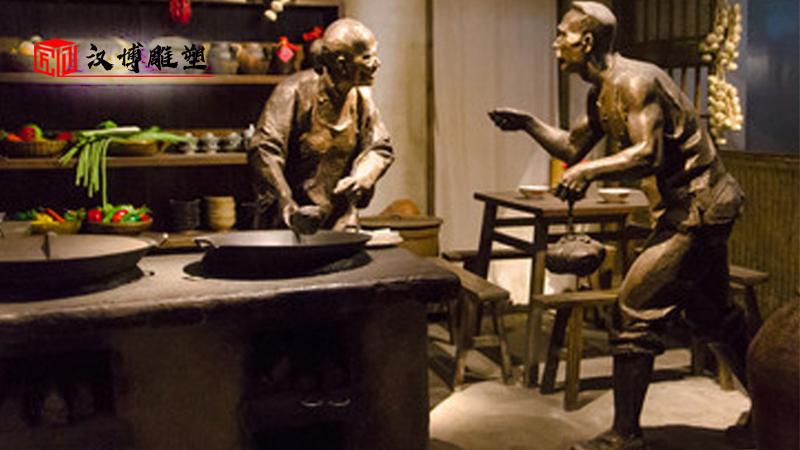 民俗文化雕像_人物铸铜雕塑_商业街铜雕_人物雕像制作_民俗小品铜雕