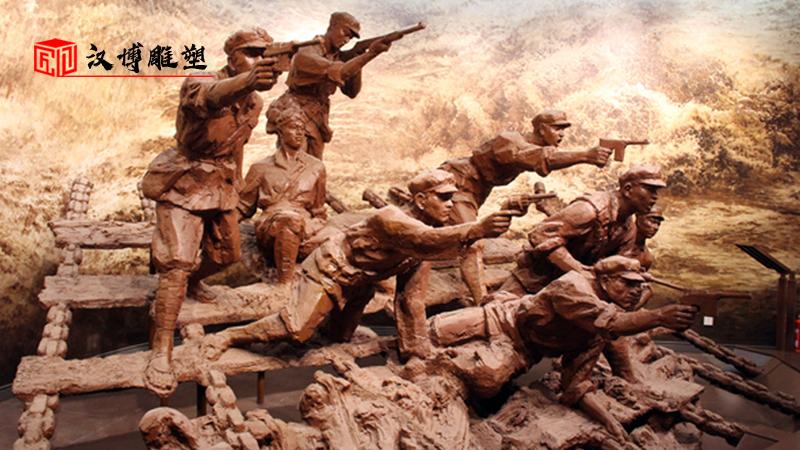 红色文化雕像_户外景观雕塑_大型雕像定制_军人主题铜雕_人物雕塑定制