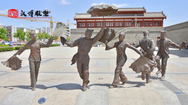 地域文化背景下的当代城市雕塑;陕北民俗文化主题雕塑展示欣赏