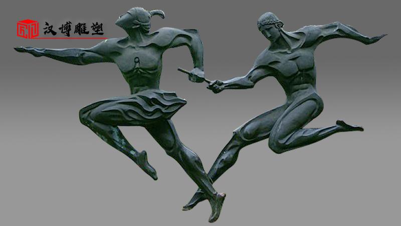 运动人物雕像定制_校园雕塑_铸铜雕塑_人物雕像制作_大型雕塑厂家