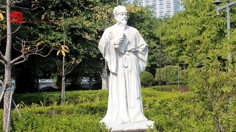 人物石雕像_大型雕塑制作_户外景观雕塑定制_人物雕塑厂家_大型石雕像