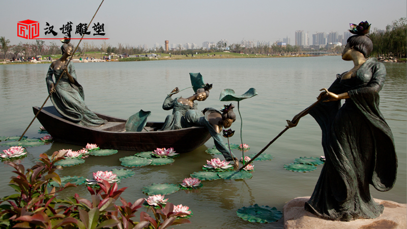 莲,花之君子者也——采莲文化主题雕塑,您对莲花有多少了解
