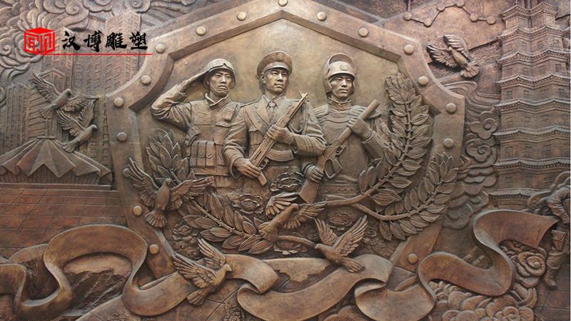 大型雕塑定制_军人雕塑制作_人物雕像制作_人物浮雕像_户外大型雕像