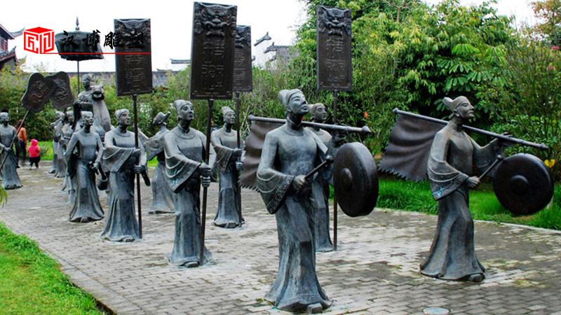 人物雕像厂家_步行街雕像_景区铜雕定制_民俗文化雕塑_户外景观雕塑制作