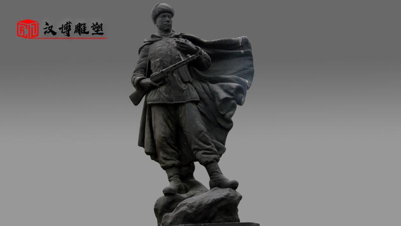 军人主题雕塑_红色文化雕塑_大型景观铜雕_户外园林雕像_战士雕像定制