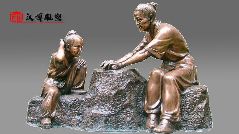 校园雕塑定制_人物雕像_玻璃钢雕塑_历史名人雕像_大型雕塑定制