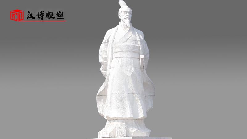 石雕像定制_大型石雕_人物雕塑_文财神雕像_范蠡雕塑