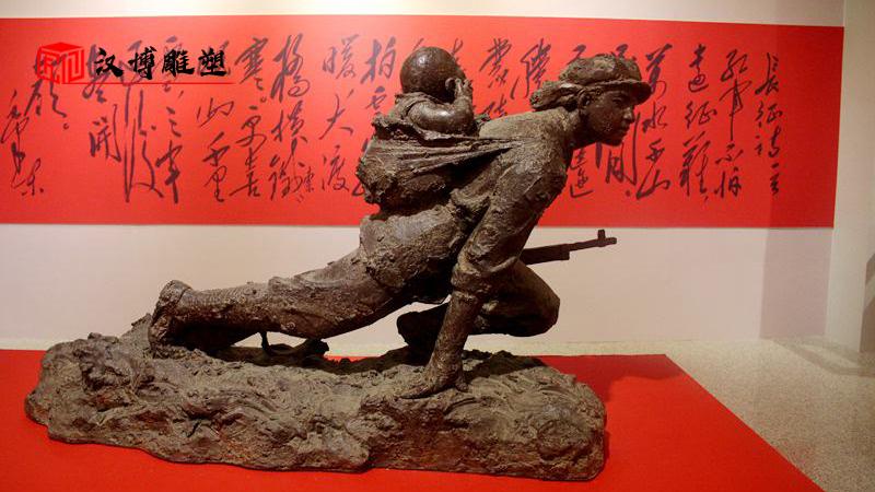 大型雕像加工,军人铜雕制作,人物雕塑定制_红色文化雕像_人物铸铜雕塑