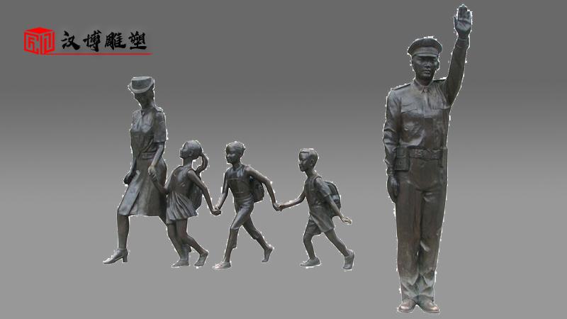 人物雕像定制_和谐社会雕塑_铸铜雕塑_铜雕人像定制_景观雕塑