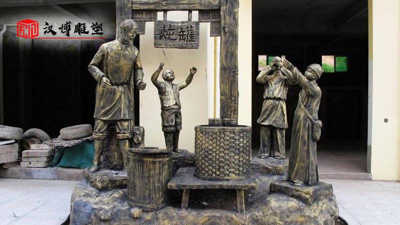 人物铸铜雕塑_商业街雕像_户外大型雕塑_商业街雕塑制作_人物铜雕定制