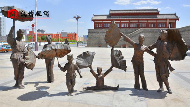 人物雕塑厂家_旅游景区雕像_民俗文化铜雕_人物铸铜雕塑_步行街雕像