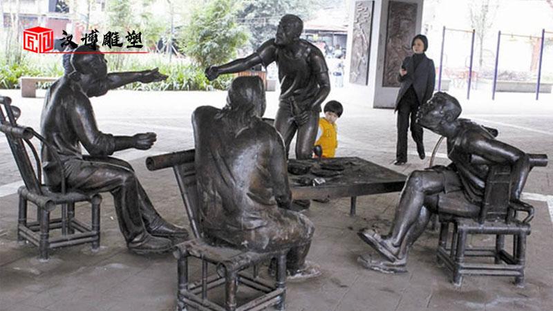 商业街雕塑_人物铸铜雕塑_户外大型雕像_人物雕像制作_古街雕像