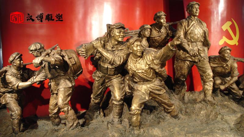 人物铜雕定制_军人雕像制作_户外景观雕塑_人物石雕像_部队军人主题雕塑