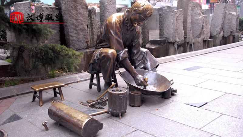 锻铜雕塑定制_人物雕像_户外大型雕塑_景观雕像定制_铜雕制作厂家
