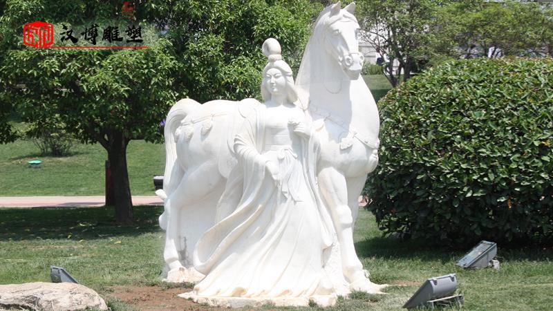 历史人物雕塑_大型石雕定制_园林景观雕像_户外石雕制作_人物石雕像