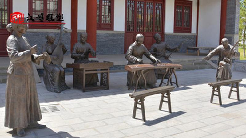 人物铸铜雕塑_民俗文化雕像_景区铜雕定制_户外大型雕像_商业街雕塑