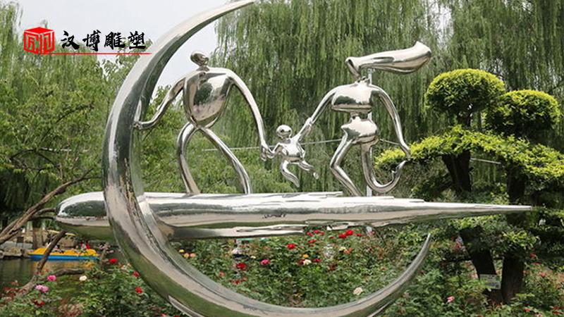 不锈钢主题雕塑_人物雕塑定制_户外景观雕像_大型雕像制作_雕塑制作厂家