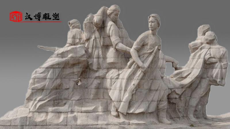 花岗岩石雕像_户外大型雕塑_人物雕像制作_半身像石雕定制_文化艺术雕塑