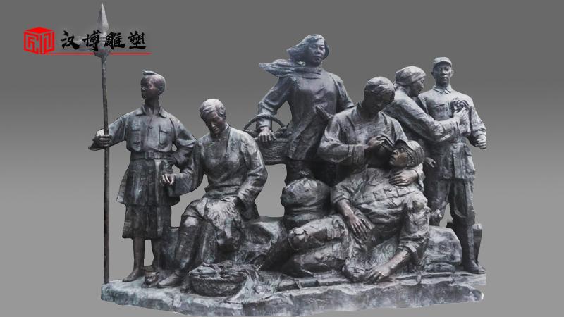 大型人物雕像_人物铸铜雕像_部队军人主题雕塑_户外大型雕像_人物雕像定制