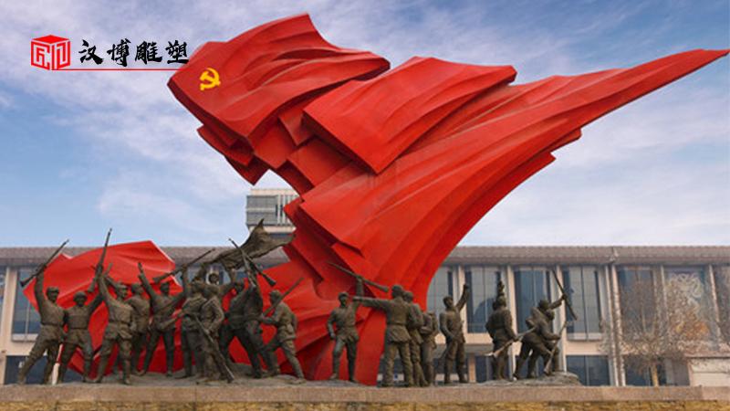 人物铸铜雕塑_广场景观雕像_部队军人铜雕_人物石雕像_军人大型雕塑
