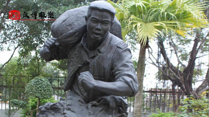 名人主题雕塑_人物铜雕定制_户外景观雕像_人物肖像雕塑_名人铸铜雕像