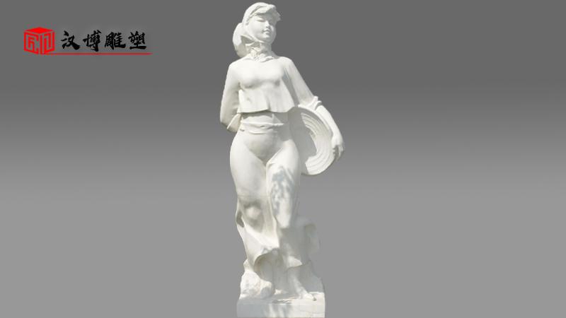 石雕人像定制_户外景观雕像_人物雕塑加工_石雕制作厂家_大型雕像