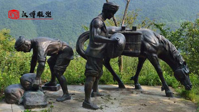 茶马古道主题雕塑再续千年的盛世繁景弘扬马帮背夫精神